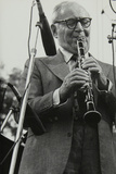 Benny Goodman Playing His Clarinet, Knebworth, Hertfordshire, 1982 Reproduction photographique par Denis Williams