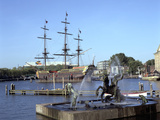 Replica Dutch East Indiaman at Scheepvaart Museum, Amsterdam, Netherlands Photographic Print by Peter Thompson
