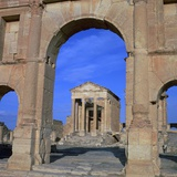 The Roman Capitol of Sbeitla, 1st Century Photographic Print by CM Dixon