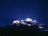 View of the Acropolis at Night, 5th Century Bc Photographic Print by CM Dixon