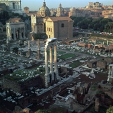 Roman Forum Seen from the Palatine Hill, 5th Century Bc Reproduction photographique par CM Dixon