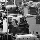 Checking Print, the White Rose Press, Mexborough, South Yorkshire, 1968 Photographic Print by Michael Walters