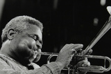 Dizzy Gillespie Peforming with the Royal Philharmonic Orchestra, Royal Festival Hall, London, 1985 Photographic Print by Denis Williams