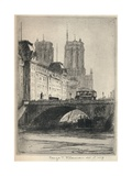 The Towers of Notre-Dame, 1915 Giclee Print by George T Plowman