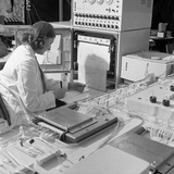 A Sequential Multi Analyser Machine at Rotherham General Infirmary, 1967 Photographic Print by Michael Walters