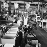 Refrigerators Being Assembled at the Gec in Swinton, South Yorkshire, 1963 Photographic Print by Michael Walters