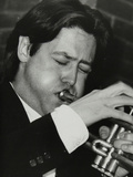 Guy Barker Playing the Trumpet at the Fairway, Welwyn Garden City, Hertfordshire, 3 November 1991 Photographic Print by Denis Williams