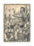 Ket the Tenner Addressing His Followers, 1902 Giclee Print by Patten Wilson