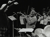 Dizzy Gillespie Playing with the Royal Philharmonic Orchestra, Royal Festival Hall, London, 1985 Photographic Print by Denis Williams