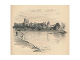 Windsor Castle from the River, 1902 Giclee Print by Thomas Robert Way