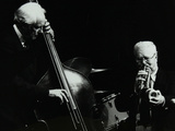 Bassist Bob Haggart and Trumpeter Yank Lawson at the Forum Theatre, Hatfield, Hertfordshire, 1978 Photographic Print by Denis Williams
