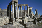 The Roman Theatre of Dougga, 2nd Century Stampa fotografica di CM Dixon