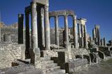 The Roman Theatre of Dougga, 2nd Century Stampa fotografica di CM Dixon