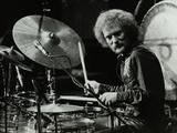 Drummer Ginger Baker Performing at the Forum Theatre, Hatfield, Hertfordshire, 1980 Fotoprint van Denis Williams