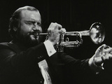 Trumpeter Keith Smith, Stevenage, Hertfordshire, 1984 Photographic Print by Denis Williams