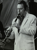 Clarinetist Buddy Defranco at the Capital Radio Jazz Festival, Knebworth, Hertfordshire, 1981 Reproduction photographique par Denis Williams