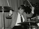 Ronnie Verrell on Drums at the Fairway, Welwyn Garden City, Hertfordshire, 1991 Photographic Print by Denis Williams