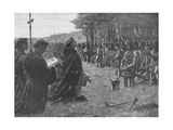 The Thanksgiving Service on the Field of Agincourt, France, 1415 Giclee Print by  EBL
