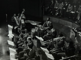 The Count Basie Orchestra in Concert at Colston Hall, Bristol, 1957 Photographic Print by Denis Williams
