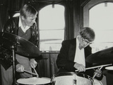 Drummers Jack Parnell and Barrett Deems, London, 1984 Photographic Print by Denis Williams