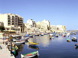 St Julians Bay, Malta Photographic Print by Peter Thompson