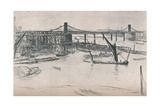 Old Hungerford Bridge, 1861, (1903) Giclee Print by James Abbott McNeill Whistler