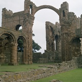 View of Lindisfarne Priory, 7th Century Reproduction photographique par CM Dixon