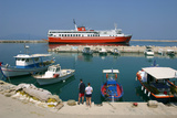 Ferry in the Harbour of Poros, Kefalonia, Greece Photographic Print by Peter Thompson