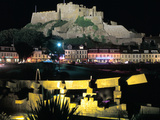 Mont Orgueil Castle at Night, Gorey, Jersey, Channel Islands Photographic Print by Peter Thompson