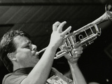 Steve Waterman Playing the Trumpet at the Fairway, Welwyn Garden City, Hertfordshire, 10 May 1992 Photographic Print by Denis Williams