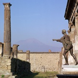 Bronze Statue in Front of the Temple of Apollo, Pompeii, 1st Century Photographic Print by CM Dixon