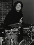 Drummer Pete Cater at the Fairway, Welwyn Garden City, Hertfordshire, 15 December 2002 Photographic Print by Denis Williams