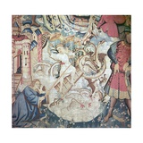 Devonshire Hunting Tapestries, 15th Century Giclee Print by CM Dixon