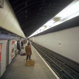 Blackhorse Road Tube Station on the Victoria Line, London, 1974 Photographic Print by Michael Walters