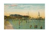 Marianao Bathing Beach, Havana, Cuba, C1910 Giclee Print