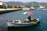 Small Fishing Boat in the Harbour, Sami, Kefalonia, Greece Stampa fotografica di Peter Thompson