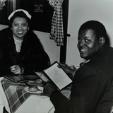Oscar Peterson Looking Forward to Dinner after a Concert at Colston Hall, Bristol, 1955 Photographic Print by Denis Williams