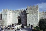 Flea Market at the Damascus Gate, Jerusalem, Israel Photographic Print by Vivienne Sharp