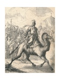 Saladin Escaping on a Swift Dromedary, 1869 Giclee Print
