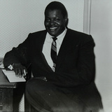 Oscar Peterson in the Green Room at Colston Hall, Bristol, 1955 Photographic Print by Denis Williams