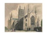 Worcester Cathedral, North West View, 1836 Giclee Print by Henry Winkles