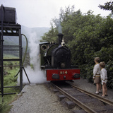 Number 4 Engine at the Dolgoch Falls Stop on the The Talyllyn Railway, Snowdonia, Wales, 1969 Photographic Print by Michael Walters