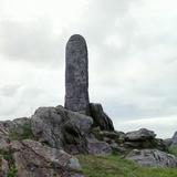 Celtic Cross Slab Photographic Print by CM Dixon