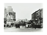 Busy Street by Stamford Bridge Stadium, (Chelsea Football Ground), Fulham, London, 1912 Photographic Print