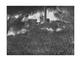 Featherstone Riots: the Soldiers Firing on the People, 1893 Giclee Print by Arthur Salmon
