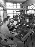 Monotype Keyboards in Operation at a Printing Company, Mexborough, South Yorkshire, 1959 Photographic Print by Michael Walters