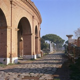 A Street in the Roman Port of Ostia, 1st Century Photographic Print by CM Dixon
