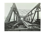 Erection of Emergency Thames Bridge, London, 1942 Photographic Print