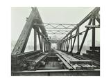 Erection of Emergency Thames Bridge, London, 1942 Lámina fotográfica