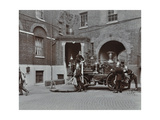 Firemen Demonstrating Motor Steamer Hoses, London Fire Brigade Headquarters, London, 1910 Photographic Print
